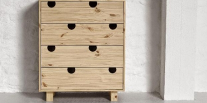 Wooden chest of drawers House